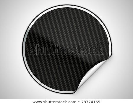 Black Hamous Sticker Or Label Stok fotoğraf © Arsgera