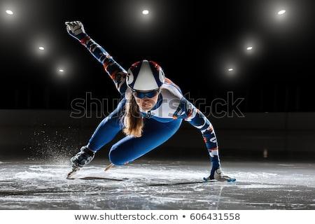 artistik · patinaj · buz · paten · yalıtılmış · beyaz - stok fotoğraf © hofmeester