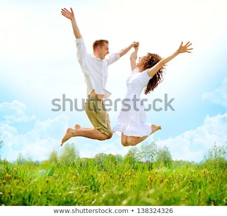 jumping couple spring stock photo © paha_l