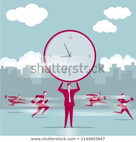 businessman holding clock stock photo © photography33