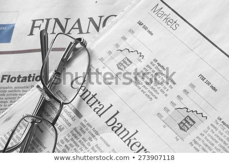 günlük · haber · yapışkan · not · gazete · beyaz - stok fotoğraf © devon