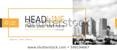 inmobiliario · anuncio · falso · periódico · comunicación - foto stock © devon