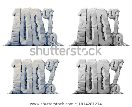 Cento cento simbolo bianco sicurezza segno Foto d'archivio © Ciklamen