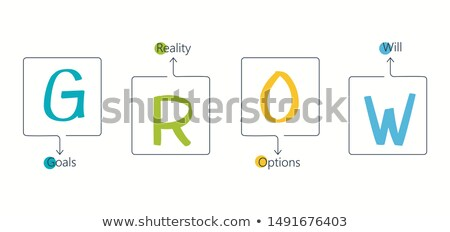 Acronym of GROW for goals, reality, options, will Stock photo © bbbar
