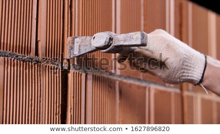 Mason młotek biały przestrzeni pracownika narzędzie Zdjęcia stock © photography33