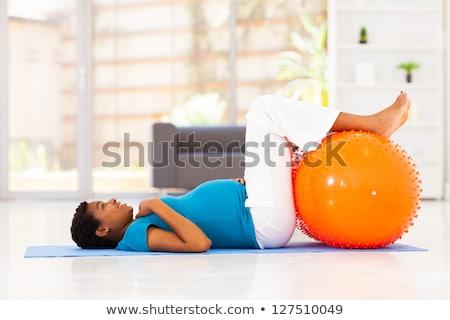 гири · женщину · расслабиться · тренировки · красный · спортзал - Сток-фото © rob_stark
