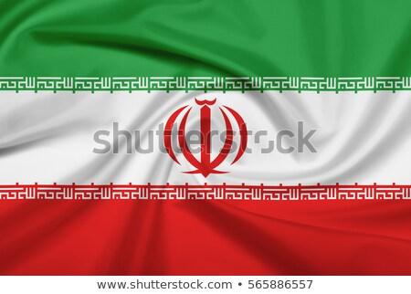 Politiek vlag Iran wereld land Stockfoto © perysty