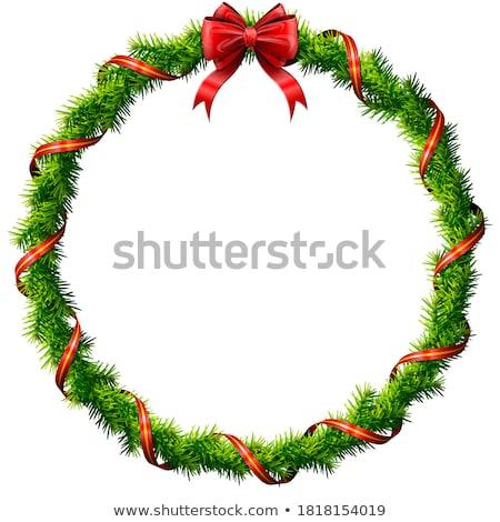 рождество венок Рождества соснового природы Сток-фото © fixer00