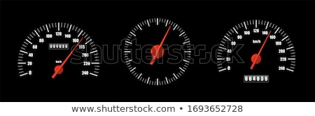 Vector illustration of a speedometer. Odometer Stock photo © leonido