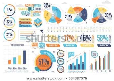 Gráfico de negocio ilustración digital flecha crecimiento beneficio Foto stock © 4designersart