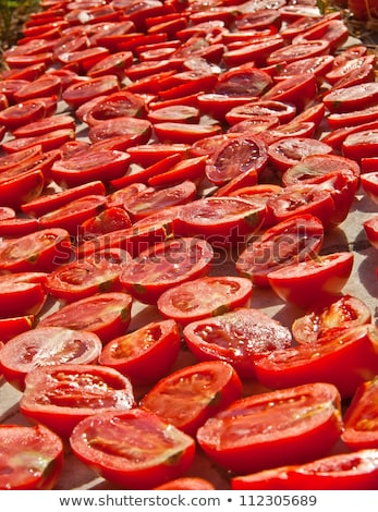 Fresh Organic Tomatoes Under The Hot Sun To Dry  Stock photo © Kuzeytac