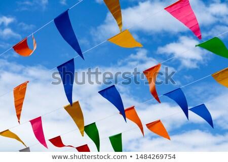 небольшой цвета флагами Blue Sky синий Сток-фото © latent