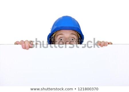 craftsman hiding behind copyspace Stock photo © photography33