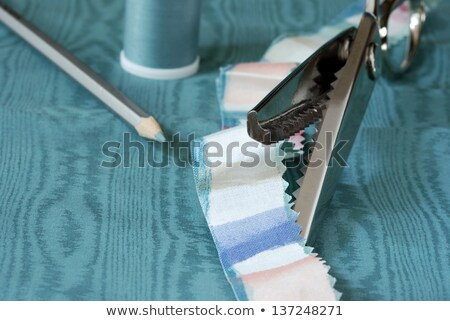 Macro pinking shears or scissors Stock photo © backyardproductions