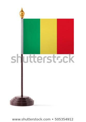 Minyatür bayrak Mali yalıtılmış toplantı Stok fotoğraf © bosphorus