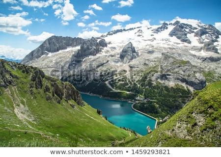 Lac glacier été vue ciel route Photo stock © Antonio-S