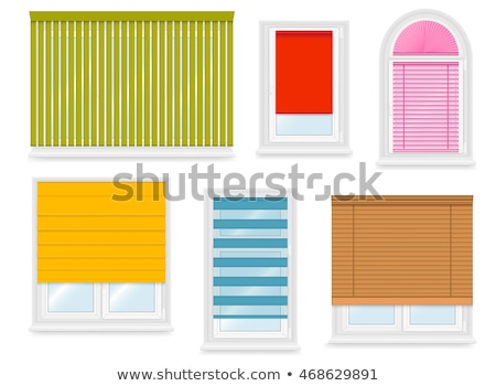 arched closed plastic window with windowsill Stock photo © LoopAll