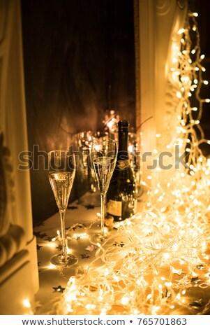 jonge · gelukkig · paar · drinken · champagne · boom - stockfoto © photography33