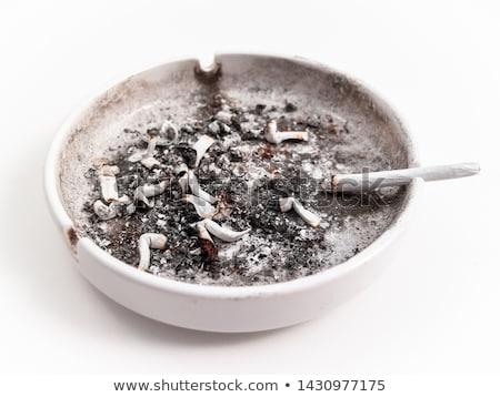 燃焼 たばこ 孤立した 白 健康 背景 ストックフォト © ozaiachin