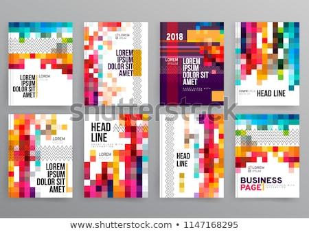 abstrato · colorido · círculo · fundo · mosaico · bandeira - foto stock © beholdereye
