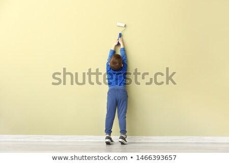 Stockfoto: Little Boy Decorator