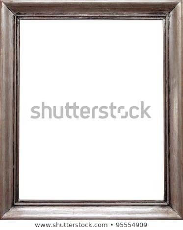 retangular · dourado · quadro · de · imagem · caminho · vazio · isolado - foto stock © winterling