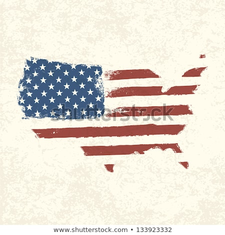 United States Map With Flag And Grunge Foto stock © pashabo