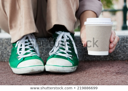 Stockfoto: Latte Macchiato To Go