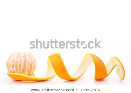 Orange posed on a orange peel against white background Stock photo © wavebreak_media