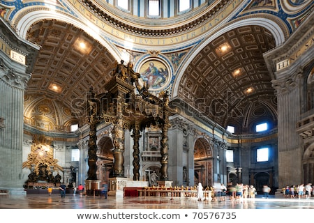 Belső széles látószögű lövés fő- oltár Szent Péter Bazilika Stock fotó © ca2hill