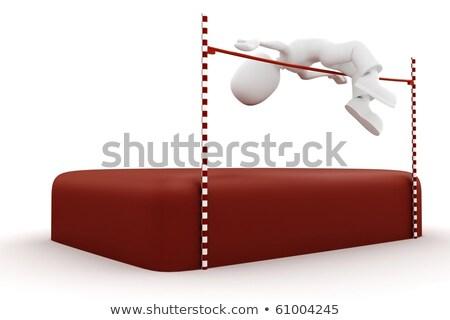 3次元の男 高跳び 男 幸せ ボディ 背景 ストックフォト © digitalgenetics