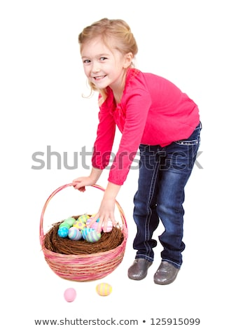 Jovem loiro menina ovos de páscoa bastante mulher jovem Foto stock © Pasiphae