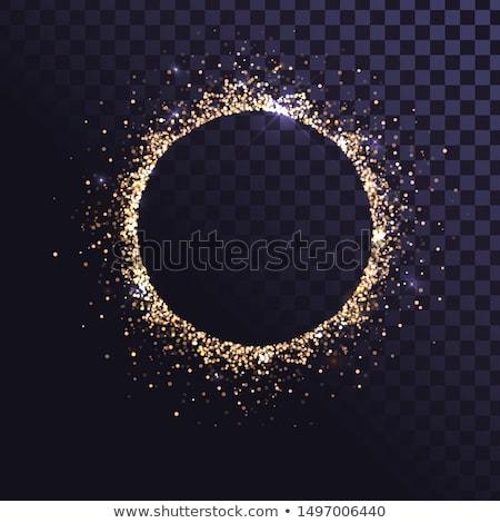 Pezsgő körök arany ezüst keret technológia Stock fotó © romvo