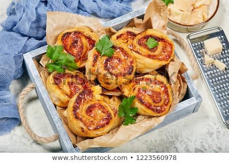 Foto stock: Tomate · queso · almuerzo · comedor · dieta · espiral