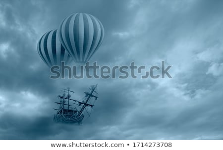 Floating balloon ship Stock photo © zzve