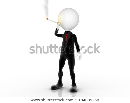 3d businessman smoker puffing cigarette Stock photo © dacasdo