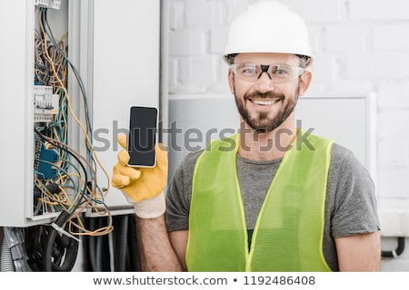 electrician showing a panel Stock photo © photography33