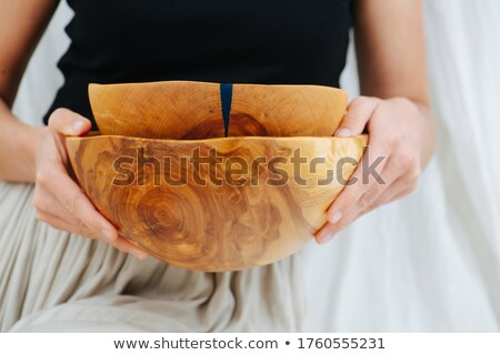 white varnish on wooden surface has cracked  Stock photo © vavlt