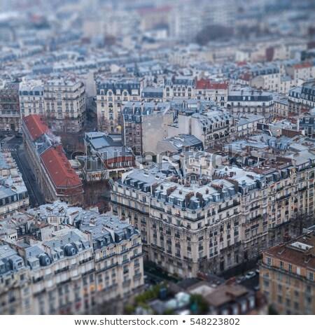 Kilátás párizsi épületek légi környék város Stock fotó © chris2k