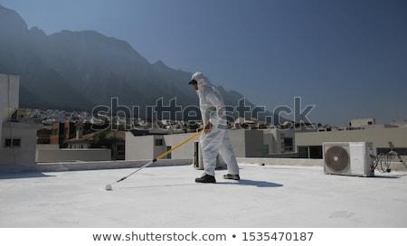 конкретные крыши новых здании стране пейзаж Сток-фото © ABBPhoto