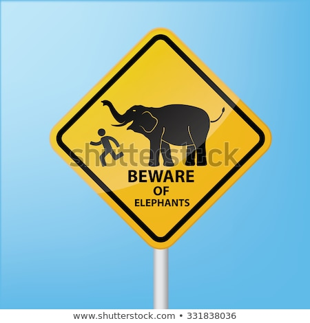 Сток-фото: Слоны · дороги · слон · знак · Шри · Ланка