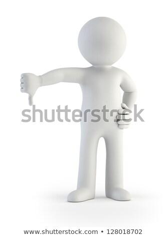 3D · biały · człowiek · strony · odizolowany · oddać - zdjęcia stock © cherezoff