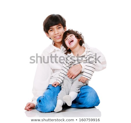 Big brother holding disabled two year old child.  Stock photo © jarenwicklund
