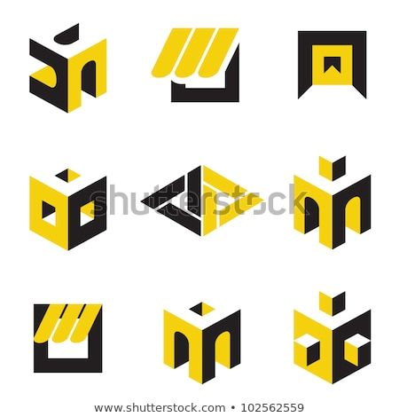 triangle pyramid abstract icon stock photo © cidepix