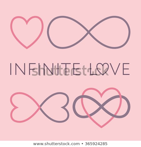 never ending love, red infinity hearts, vector set Stock photo © beaubelle