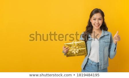 mooie · jonge · opgewonden · christmas · vrouw - stockfoto © ichiosea