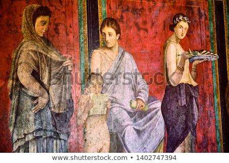 fresk · obrazy · piękna · kolorowy · świątyni · ściany - zdjęcia stock © sailorr