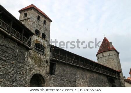 Таллин старый город архитектура каменные укрепление небе Сток-фото © tuulijumala
