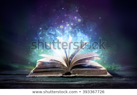 bruja · magia · libro · cara · horripilante · ahumado - foto stock © lithian