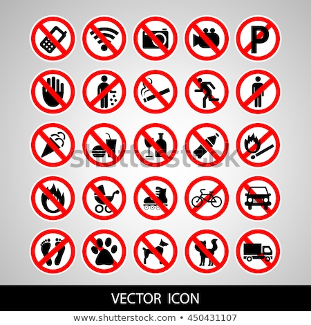 set prohibited symbols stock photo © ecelop